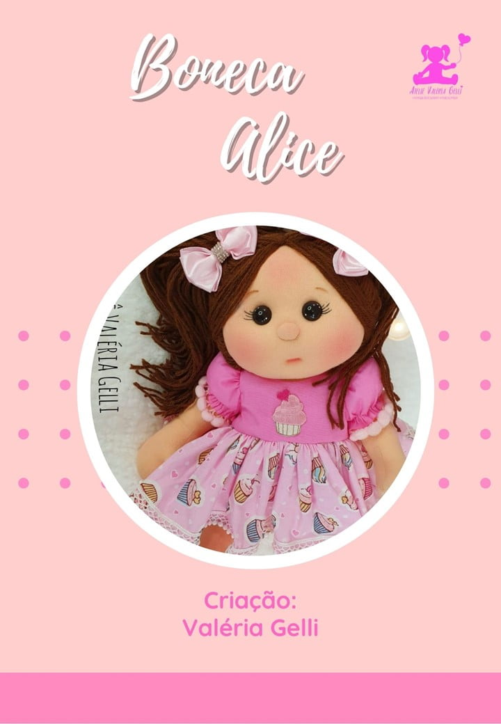 Apostila boneca Alice ( envio por correio )