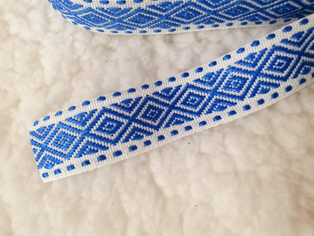 fita galão azul 1 metro (detalhe blusa masha)