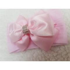 Faixa Laço rosa luxo