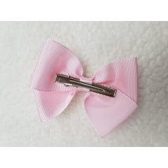 Laço rosa Luxo no bico de pato