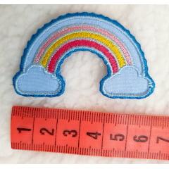 Aplique Termocolante arco íris (tamanho M)