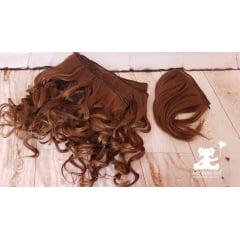 aplique cabelo 3 metros + franja lisa