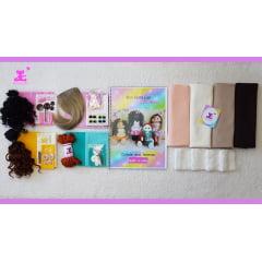 Kit completo para 4 mini bonecas