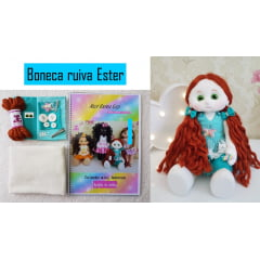 Mini boneca ruiva Ester