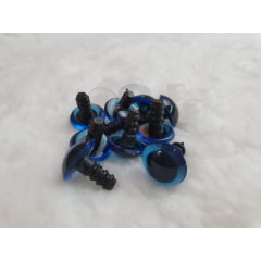 5 pares olhos pino 15 mm Azul + trava