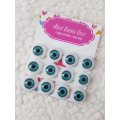 6 Pares olhos acrílico Azul     selecionar tamanho
