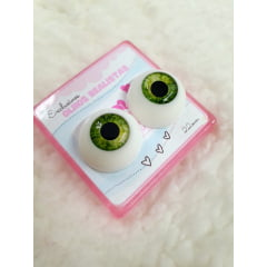 Olhos realistas verde Oliva 22mm. cores raras e exclusivas