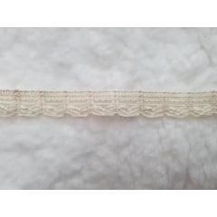 10 metros renda de algodão cru 10mm