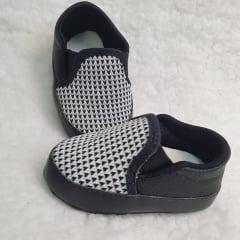 sapatinho masculino elástico preto e branco