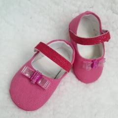 sapatinho pink lacinho miçanga