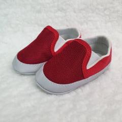 sapatinho masculino vermelho elástico lateral