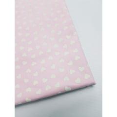 Tricoline Corações rosa bb. (50x1,55)